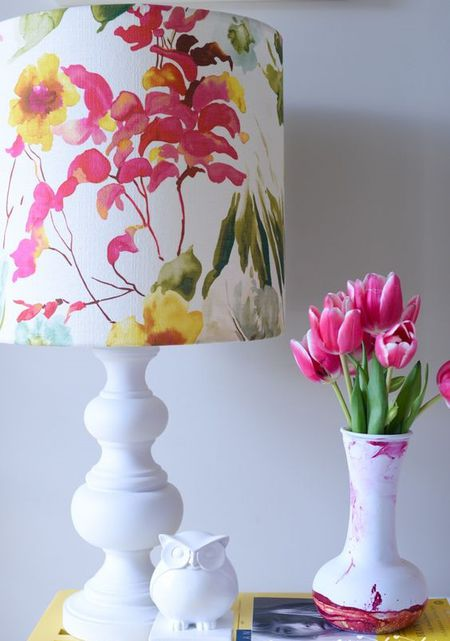 Give your lampshade new life with a custom fabric cover easy diy give your lampshade new life with a custom fabric cover greentooth Choice Image