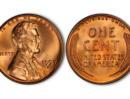 VINTAGE NOVELTY 1978 2 Headed Lincoln Cent PENNY MAGIC COIN NEVER LOSE A FLIP