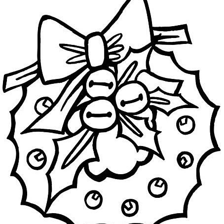 a christmas wreath preschool coloring book