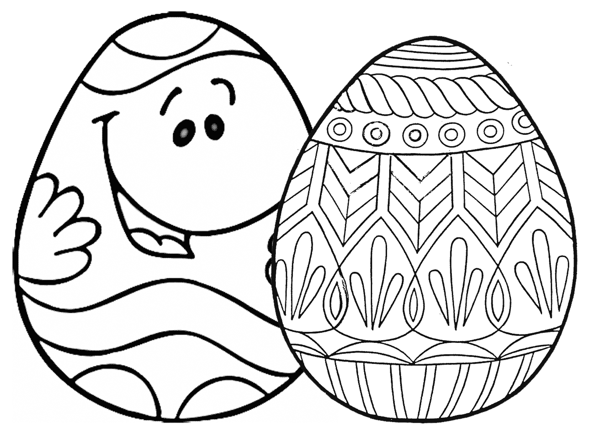 Easter Egg Coloring Pages At Coloringws