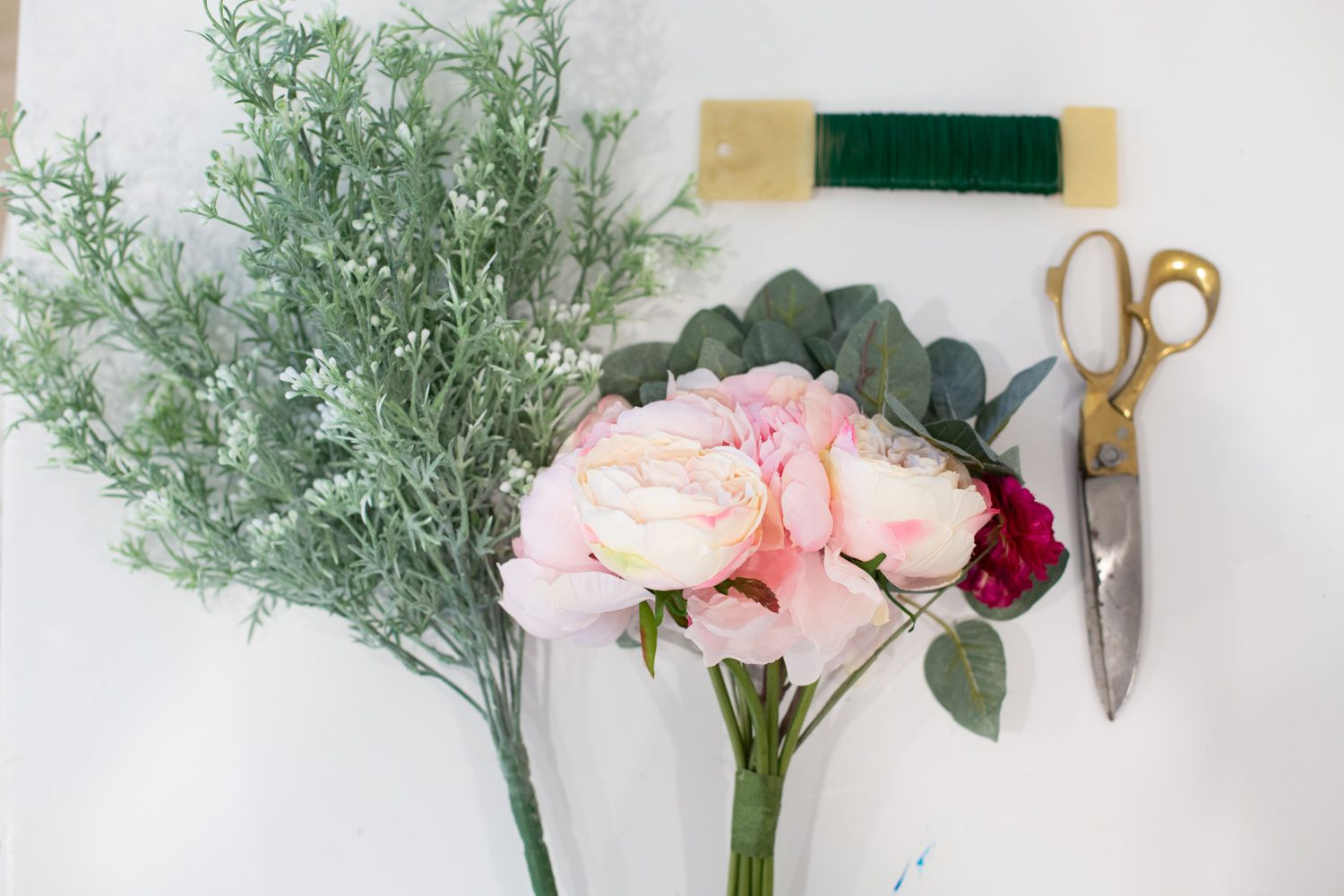 Materials for making a faux flower crown