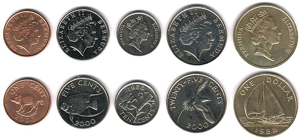 These coins are currently circulating in Bermuda as money.