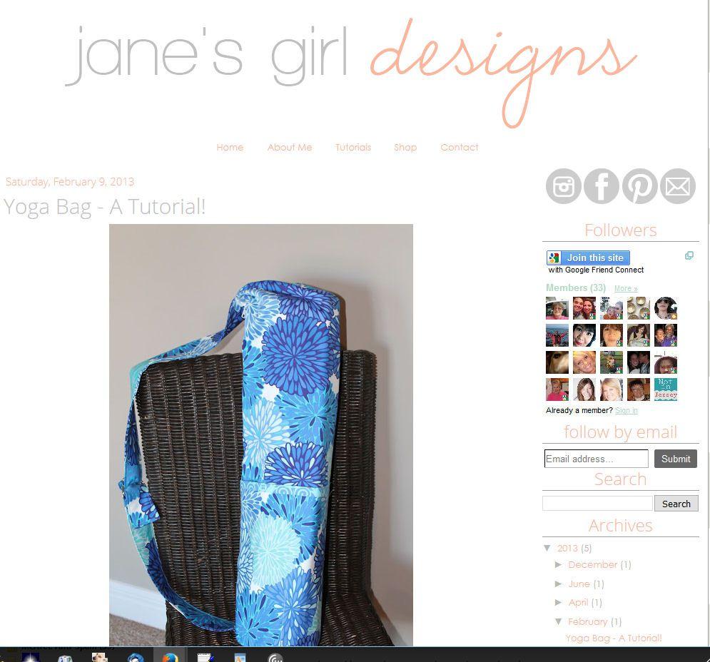 391b3abd47 Free Yoga Mat Bag Sewing Patterns