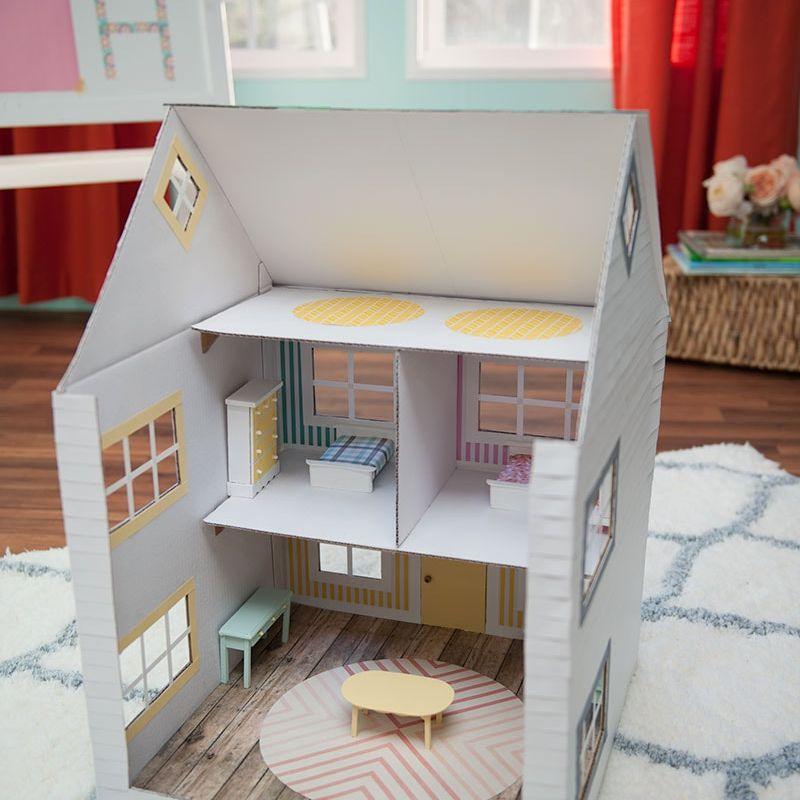 Fixture /& Fittings DIY Dolls House Miniature Plastic Door /& Frame