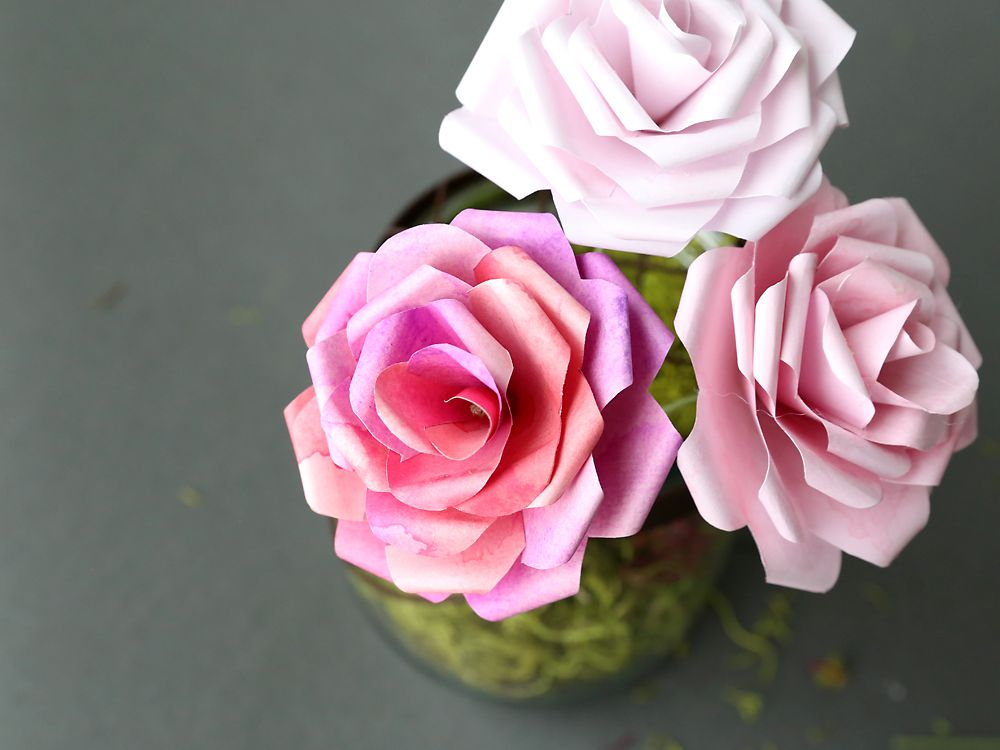 Example 15 origami paper Flower Bouquet