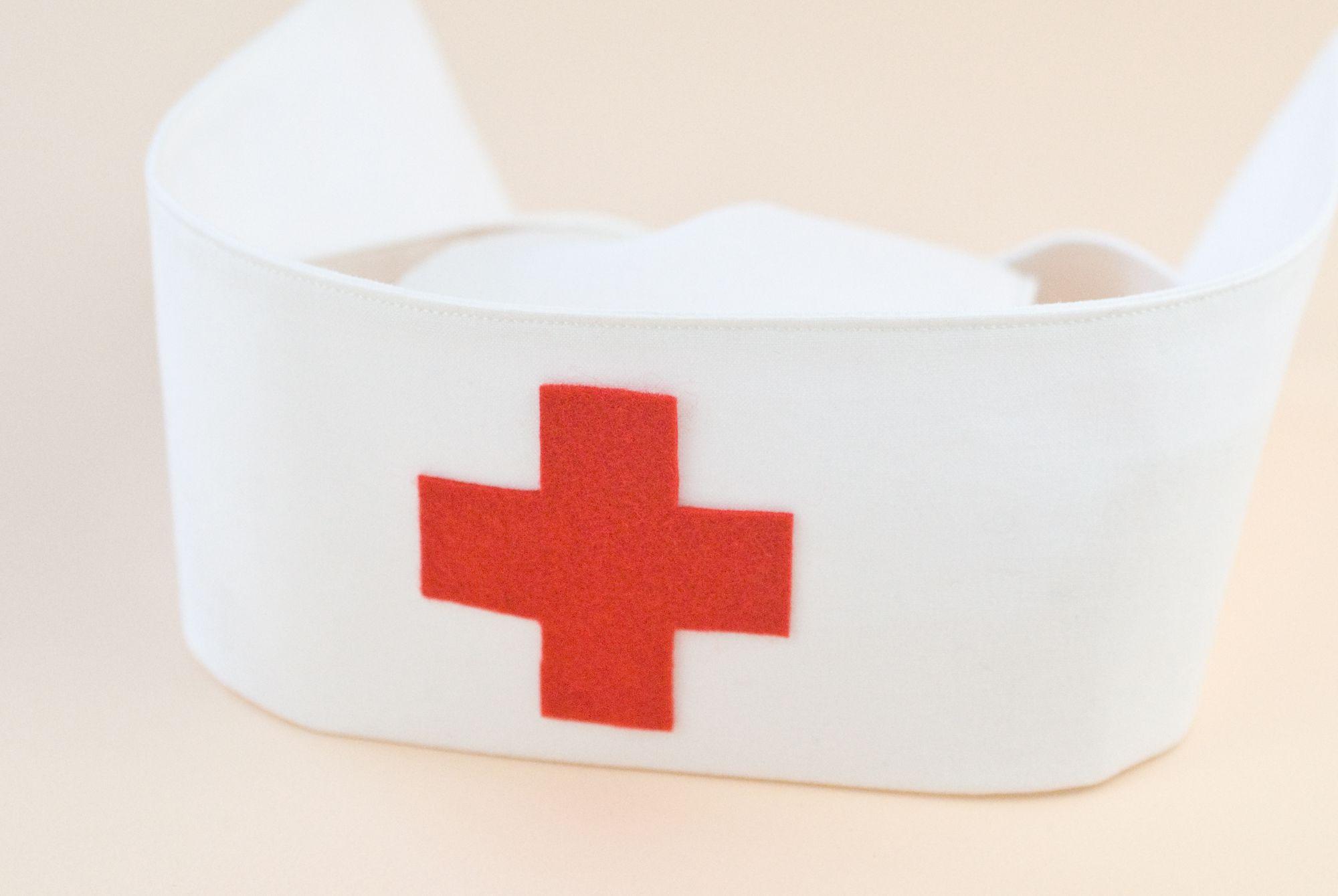 felt red cross on nurse's hat
