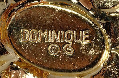 Dominique costume jewelry mark