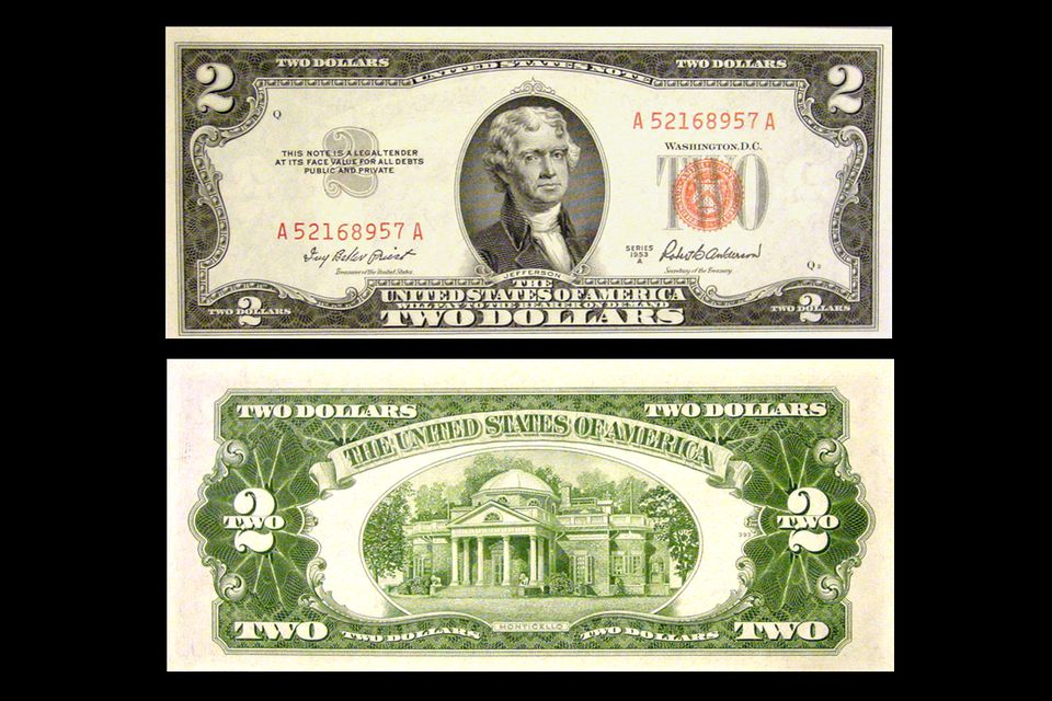 series 1953-a two dollar bill