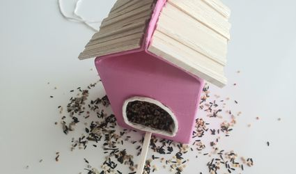 Bird feeder with bird seed