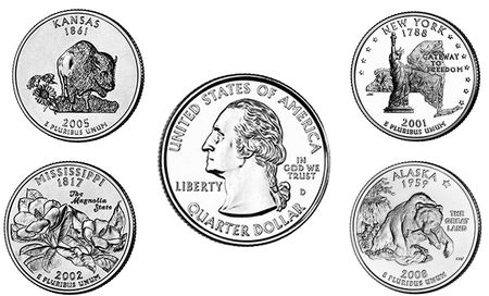 50 State Quarters, D C , and Territories Coin Values