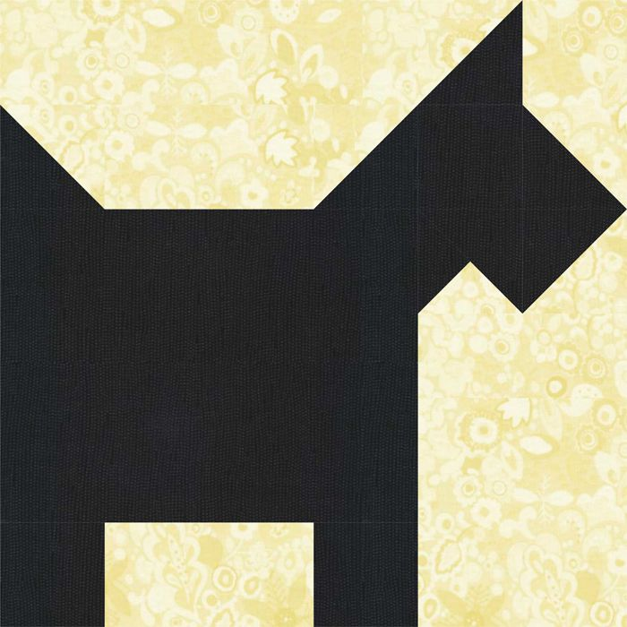 Scotty Dog Quilt Block Pattern
