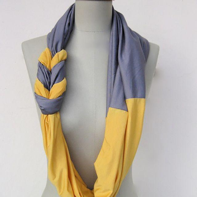 diy tshirt scarf tutorial