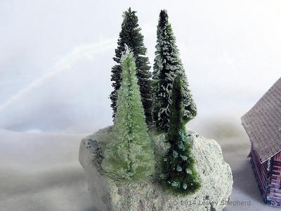 micro village glitter trees from chenille bumps
