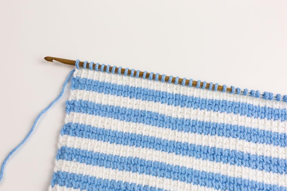 tunisian crochet striped background