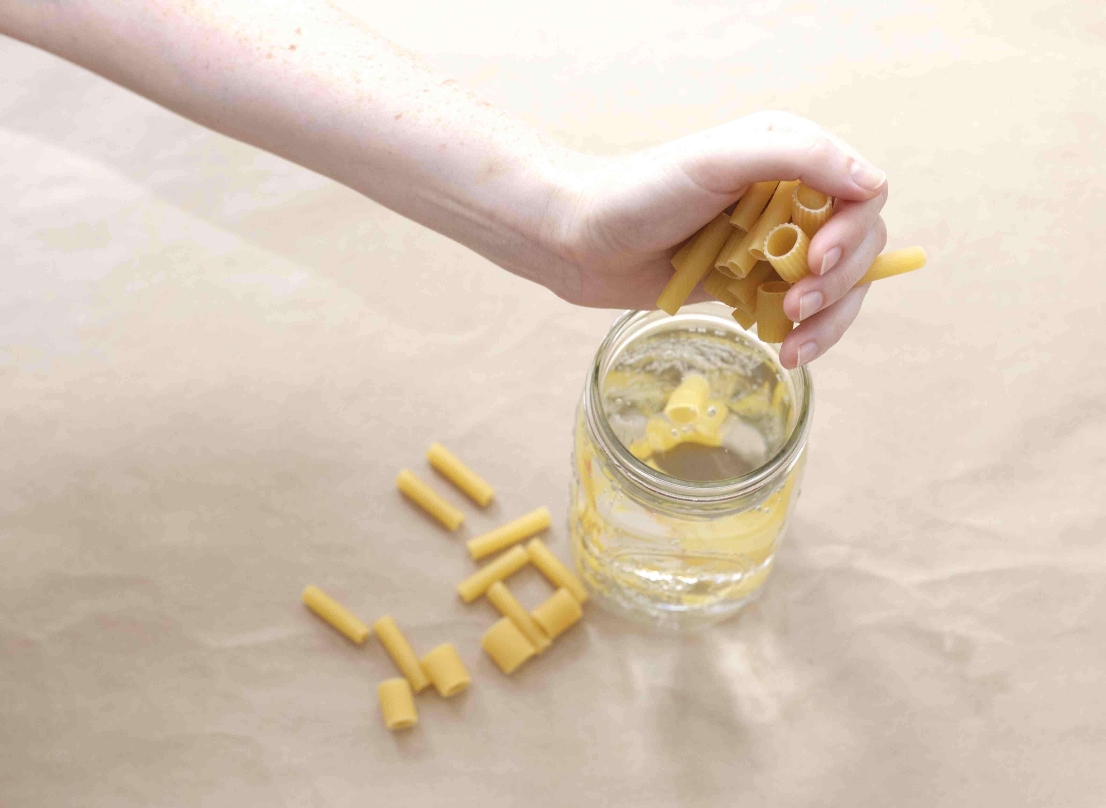 DIY macaroni necklaces