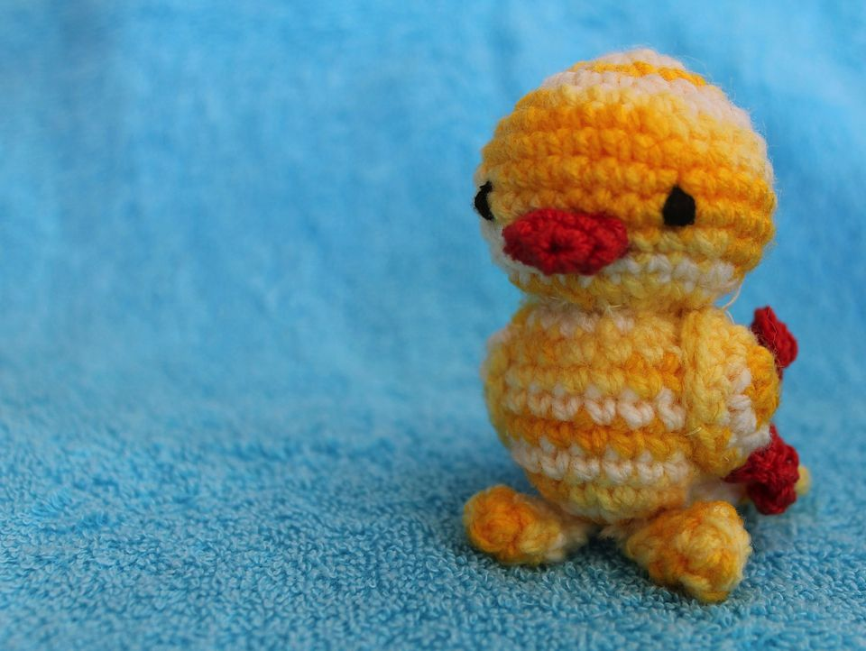 Miniature crochet duck