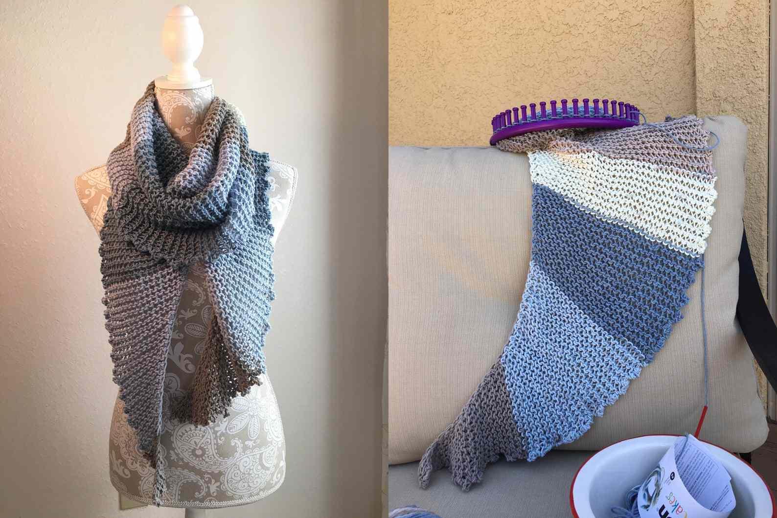 Knotty Scarf Loom Knitting Pattern