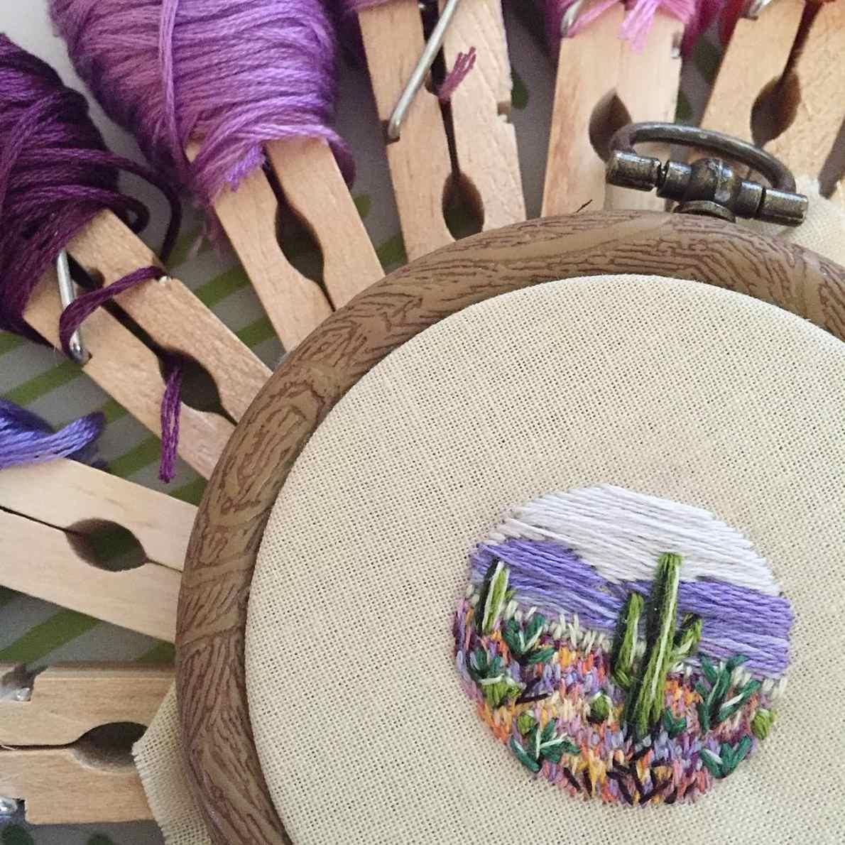 Tiny Landscape Embroidery