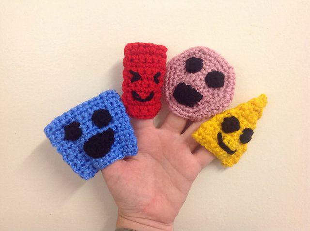 Finger puppets pattern Animal crochet pattern Bear Pig | Etsy | 478x640