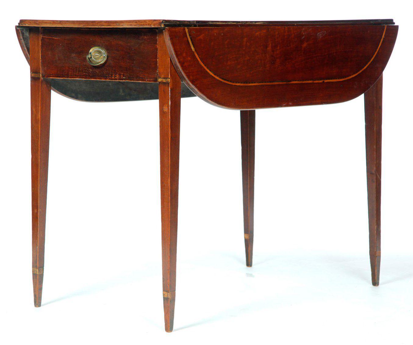 Pembroke Table in George III Style, Mahogany