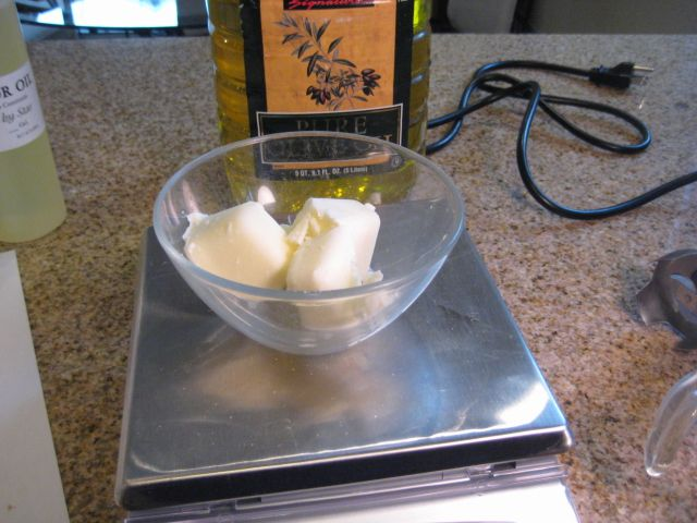 Weigh out the heavy cream cubes