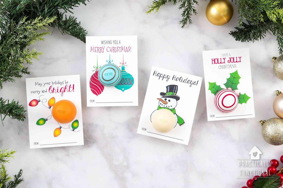 lip balm christmas cards