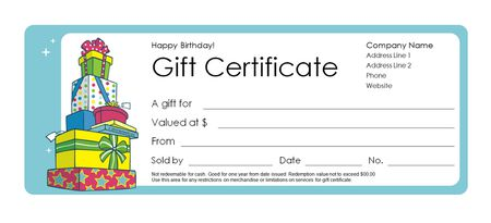 a birthday gift certificate template - Shopping Certificate Template