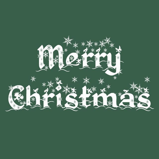 """Merry Christmas"" in the font KingsThing Christmas."