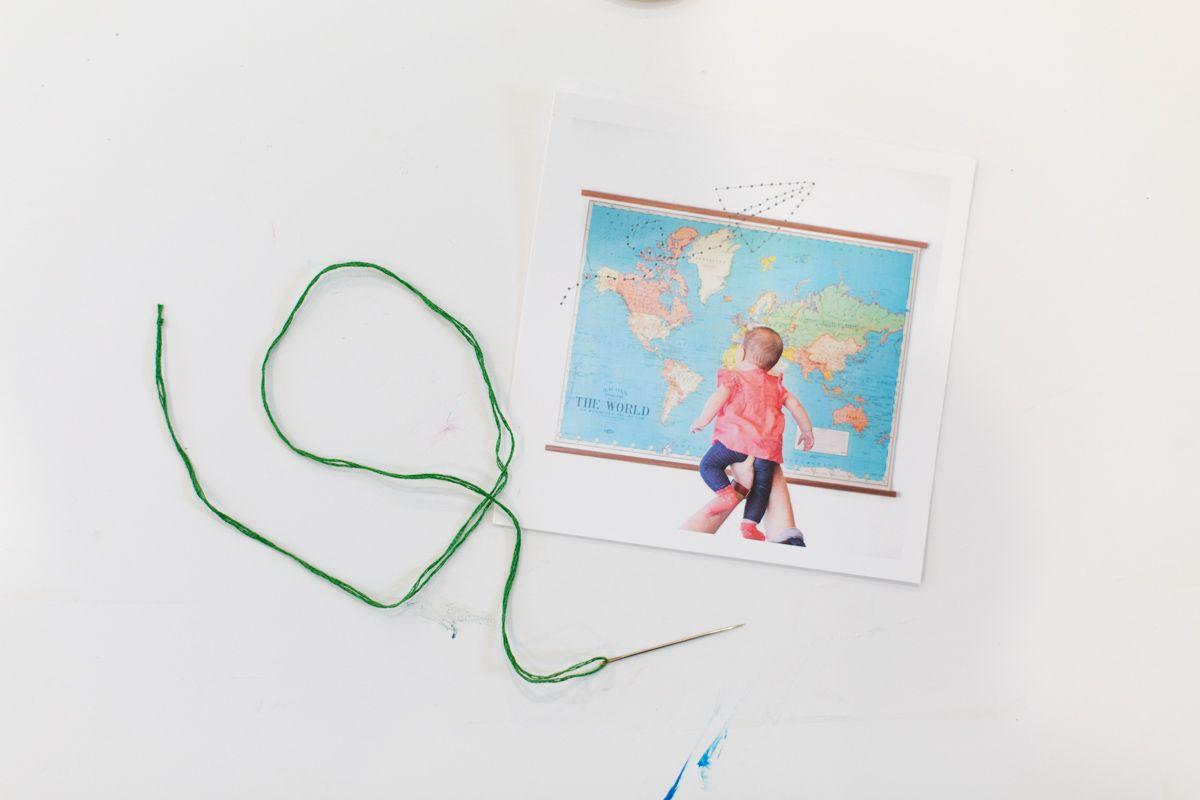 Thread and photograph