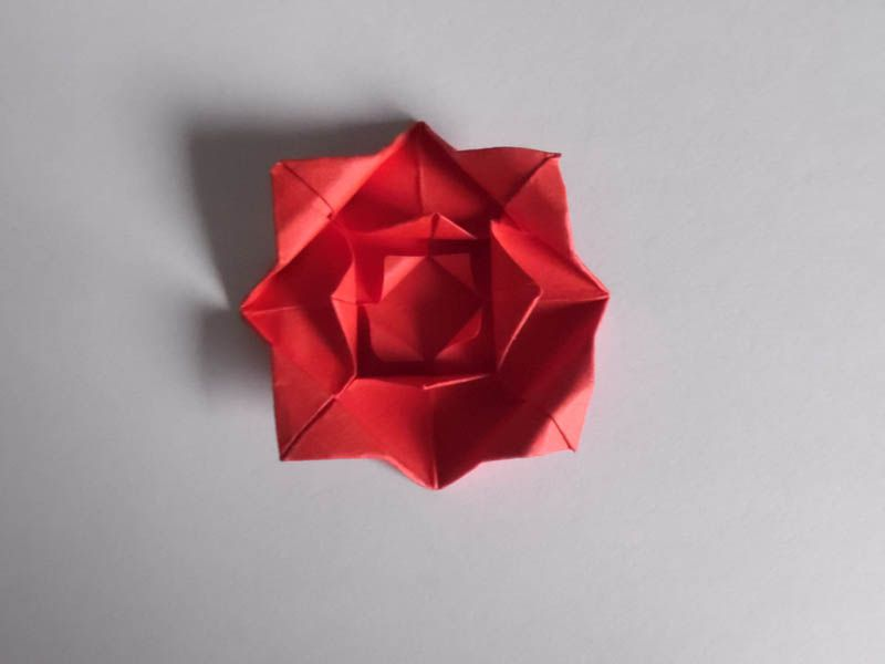 How to make an easy origami rose make the petals mightylinksfo