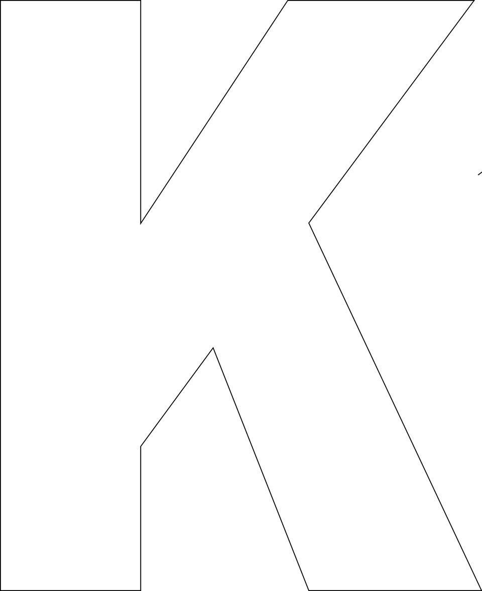 Terrible image inside letter k printable