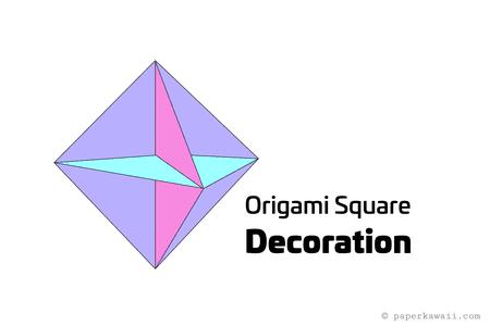 Origami Square Hanging Decoration Tutorial