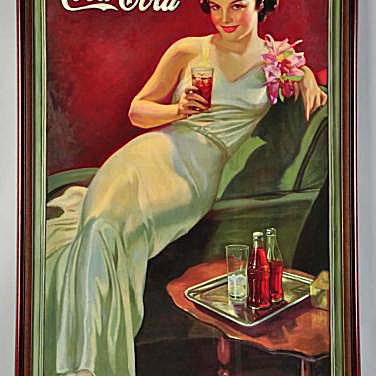 Coca-Cola Rare Vertical Poster from 1935