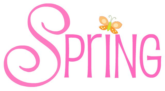 """The word """"Spring"""" with a butterfly"""
