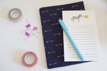 how to make a fabric covered notebook or journal