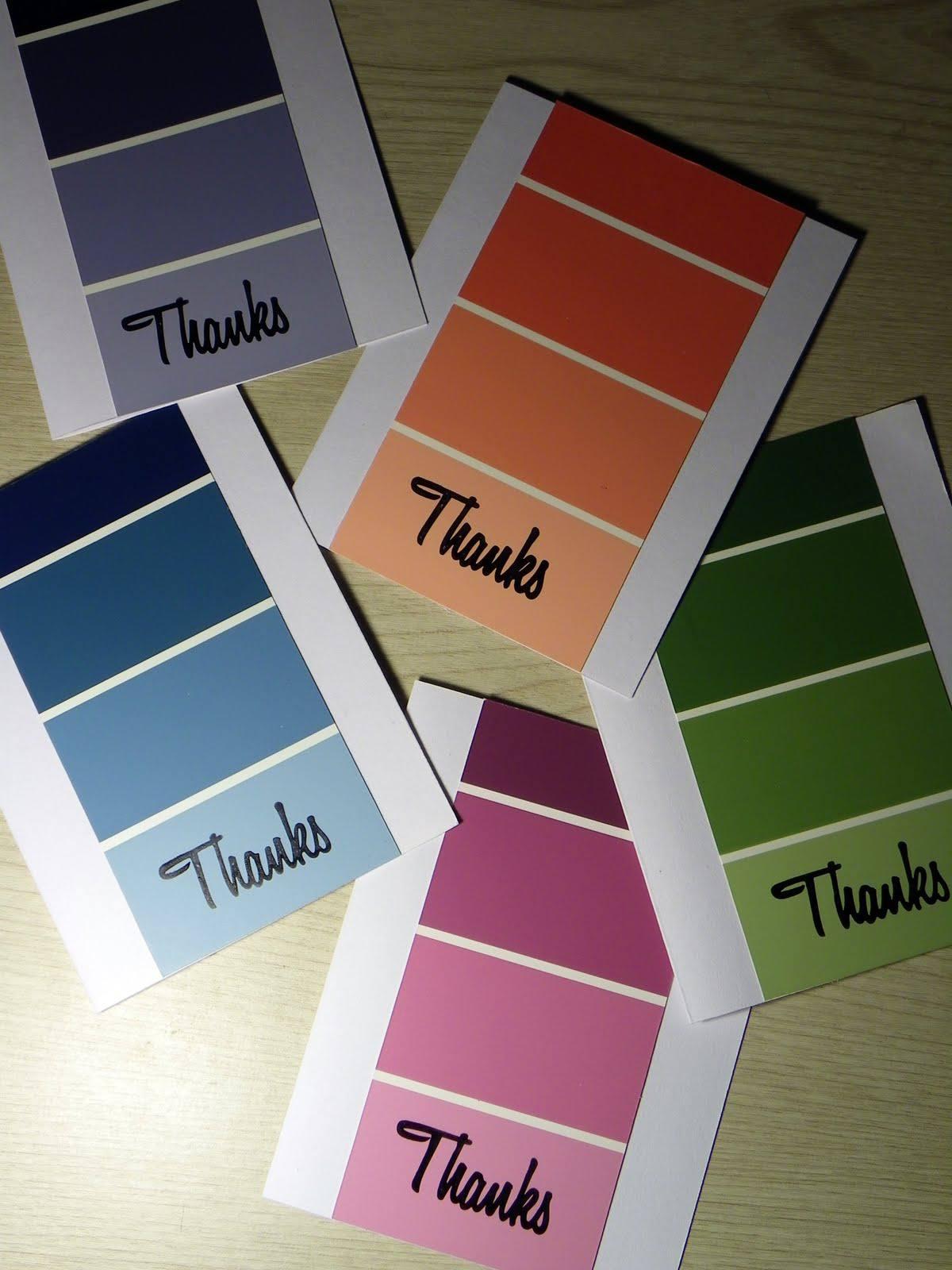 25 Easy DIY Thank You Cards