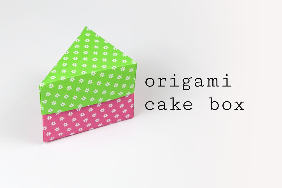 Origami cake box tutorial