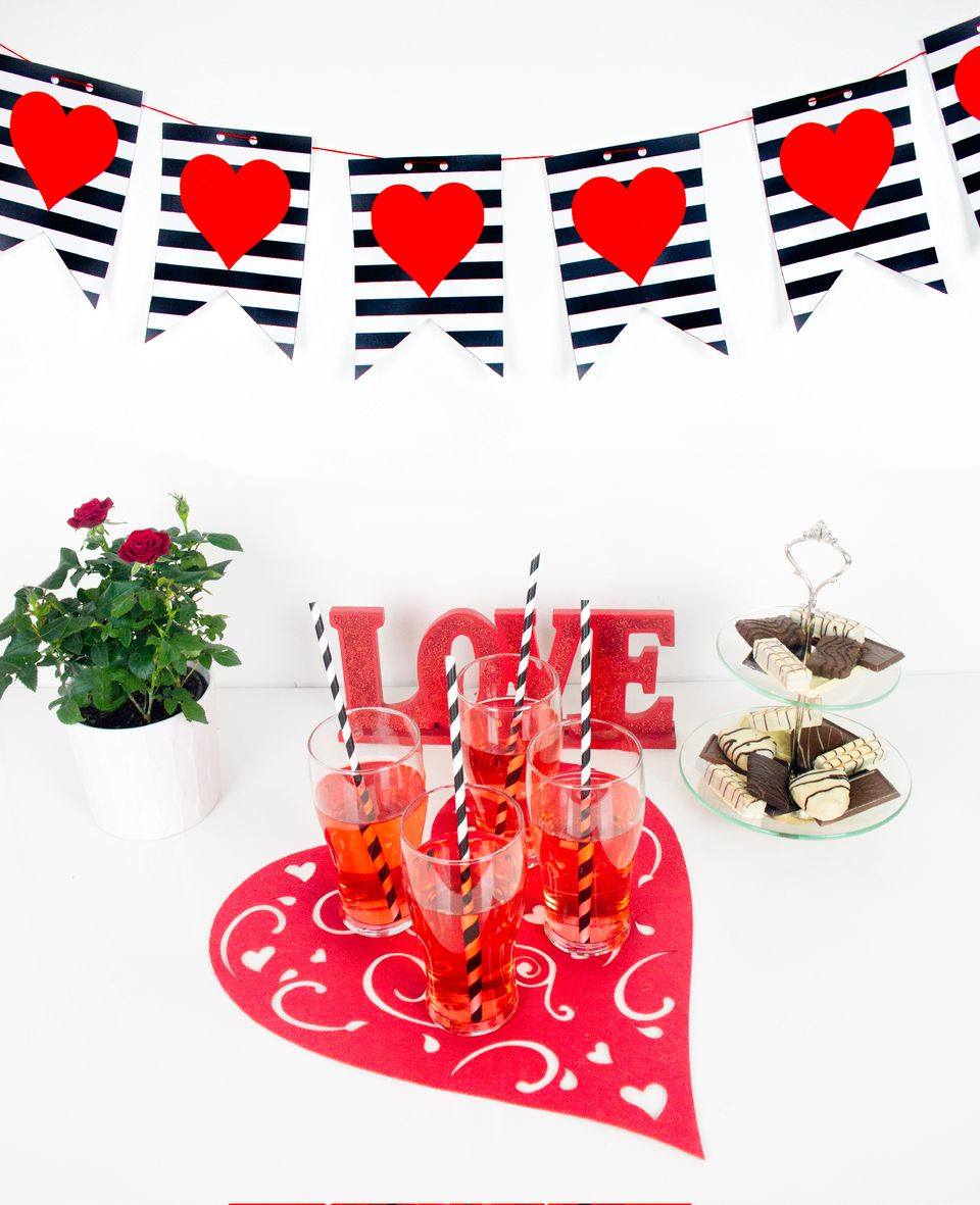 DIY Valentine's Day Printable Banner