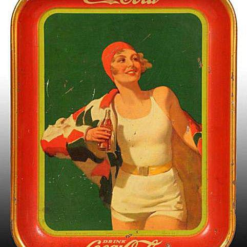 Tin Litho Coca-Cola Coke Collectibles Serving Tray