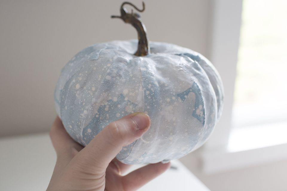 no carve fabric pumpkin diy