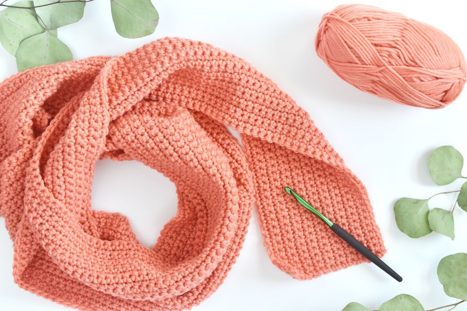 Single crochet scarf free pattern