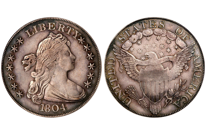 1804 Draped Bust Silver Dollar, Class III, Adams-Carter Specimen