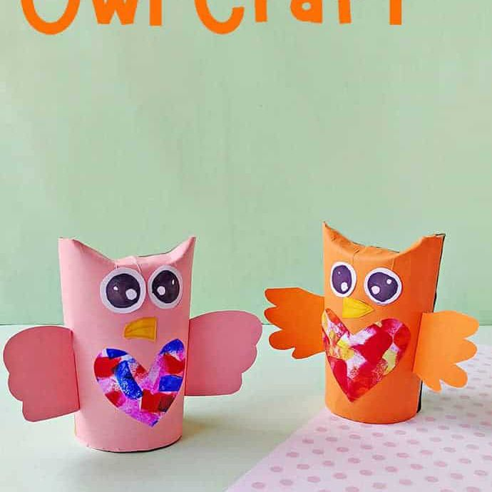 Cardboard Tube Owl