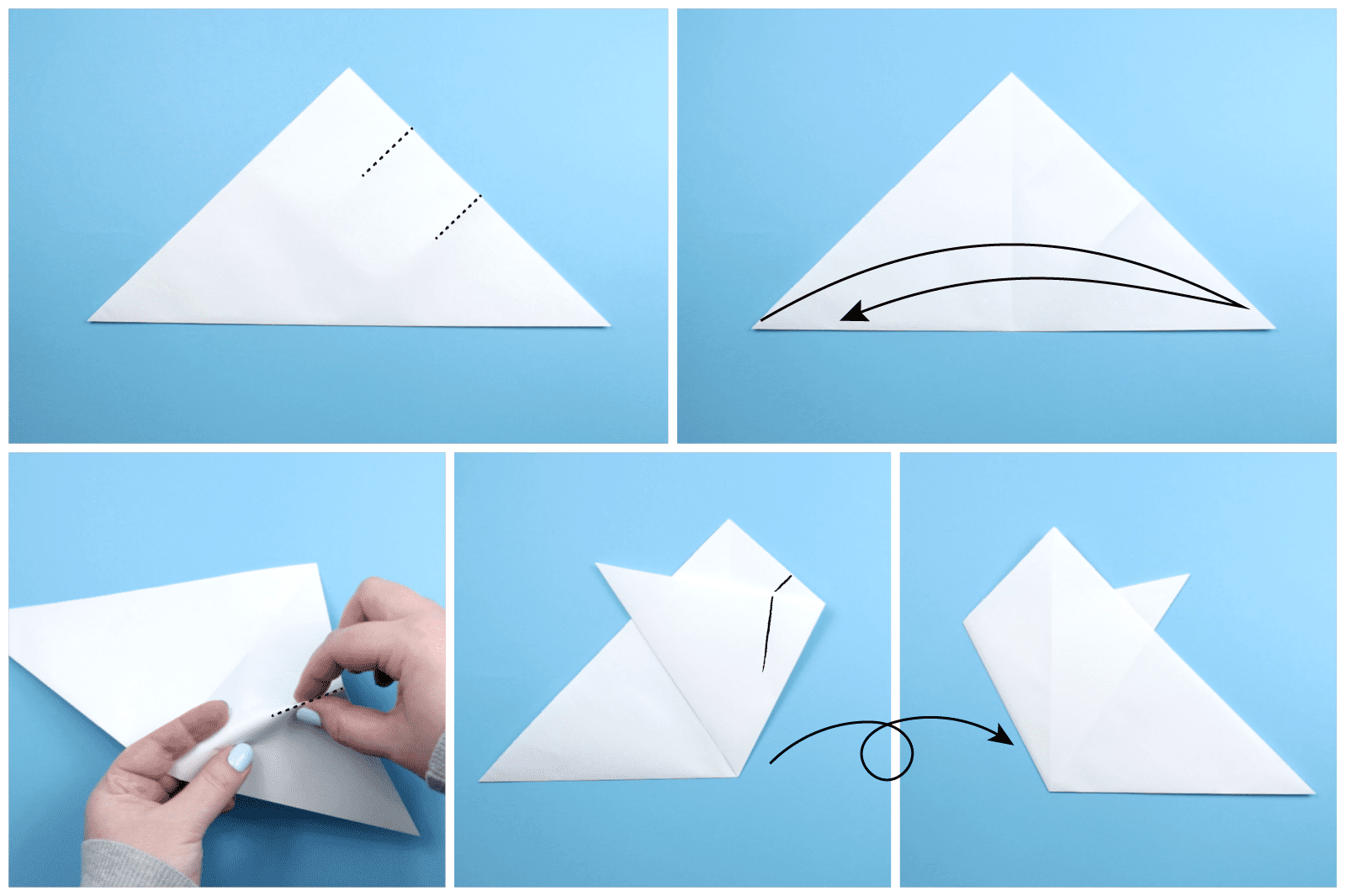 How To Make An Origami Snowflake Dog Diagram