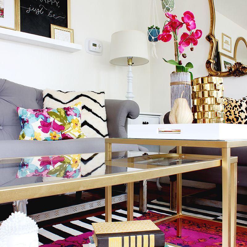 DIY Gold Nesting Tables