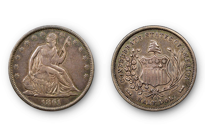 original Confederate half dollar 1861