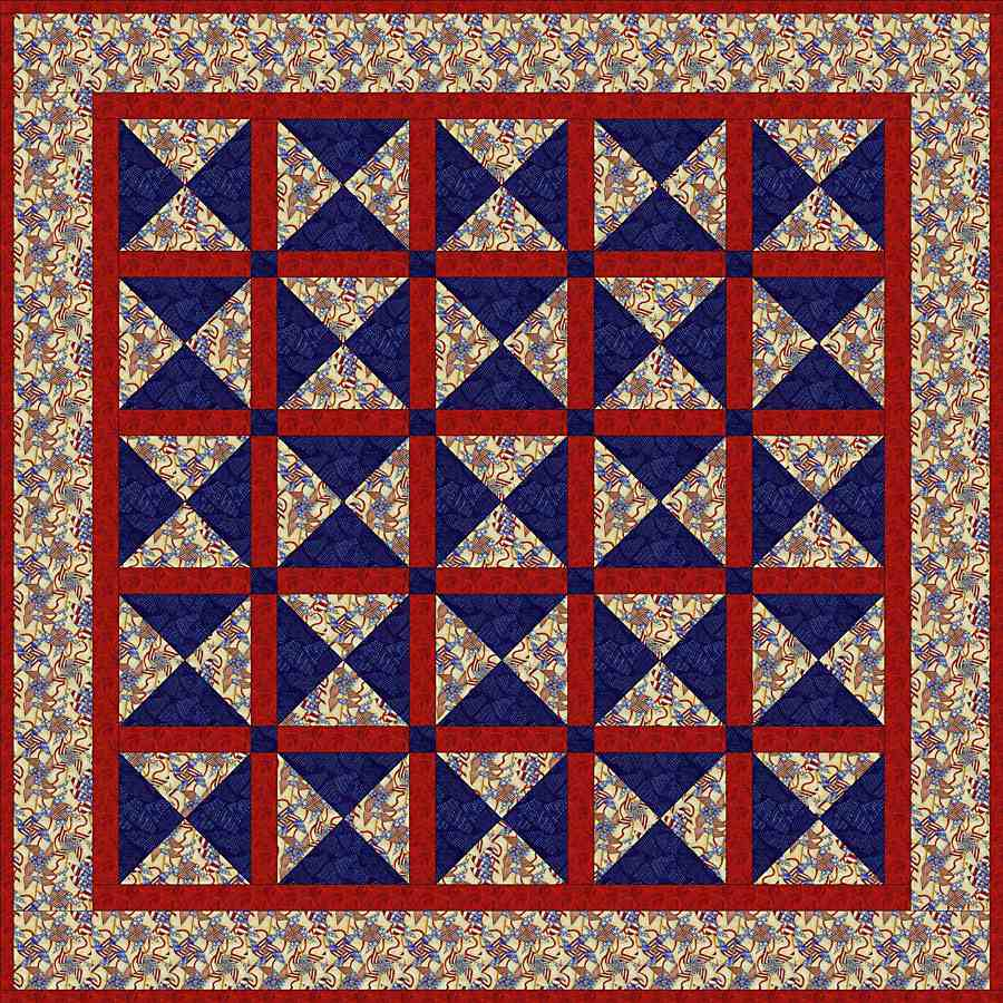 Patriotic Quilt Pattern That's Perfect for Picnics