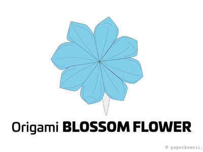 How to make an origami kusudama flower how to make a pretty origami blossom flower mightylinksfo