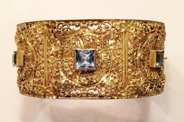 Napier 1920s French Filigree Cuff Bracelet