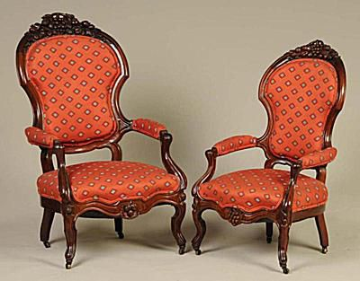 Late 1800s Victorian Upholstered Antique Chairs. - Photo Courtesy of Morphy  Auctions - Victorian Furniture Identification And Value Guide
